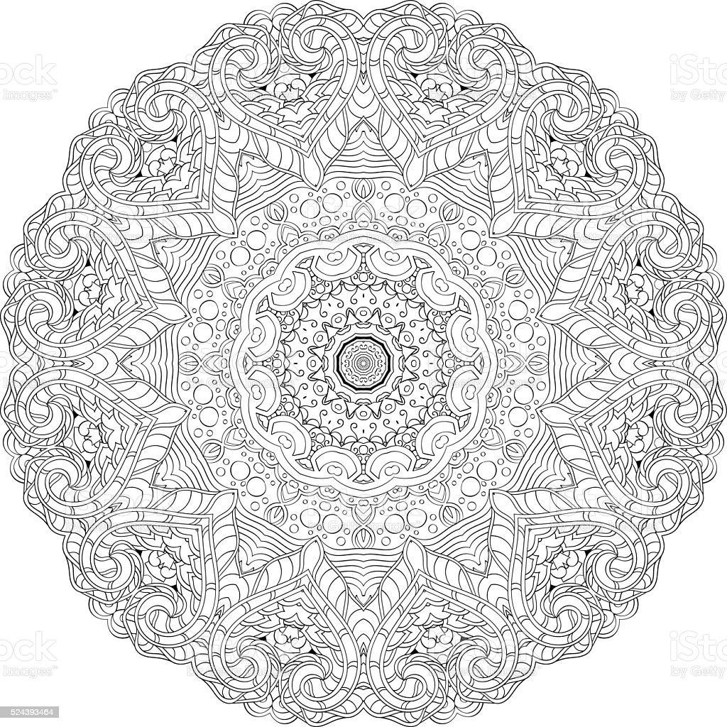 Tracería Ornamento De Étnica Doodle Diseño Mehndi Barra Curva Para ...