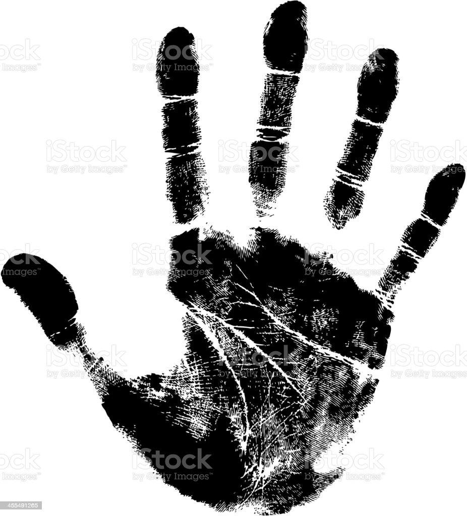 tracing hand royalty-free stock vector art