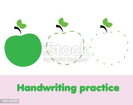 istock Hoja de ejercicios de escritura. Educativo de los niños juego ...