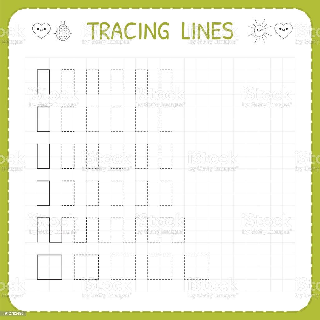 Ablaufverfolgung Linien Arbeitsblatt Für Kinder Arbeitenseiten Für ...