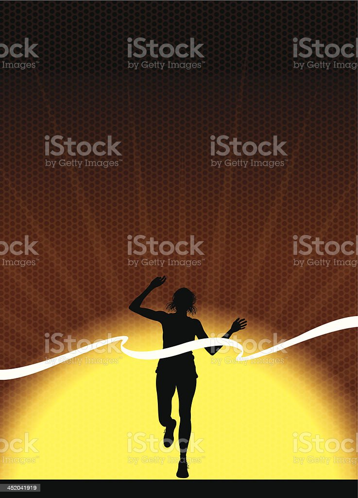 Track and Field Background - Female Finish Line Background royalty-free stock vector art
