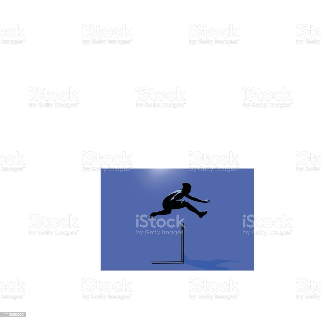 Track and Field Hurdle vector art illustration
