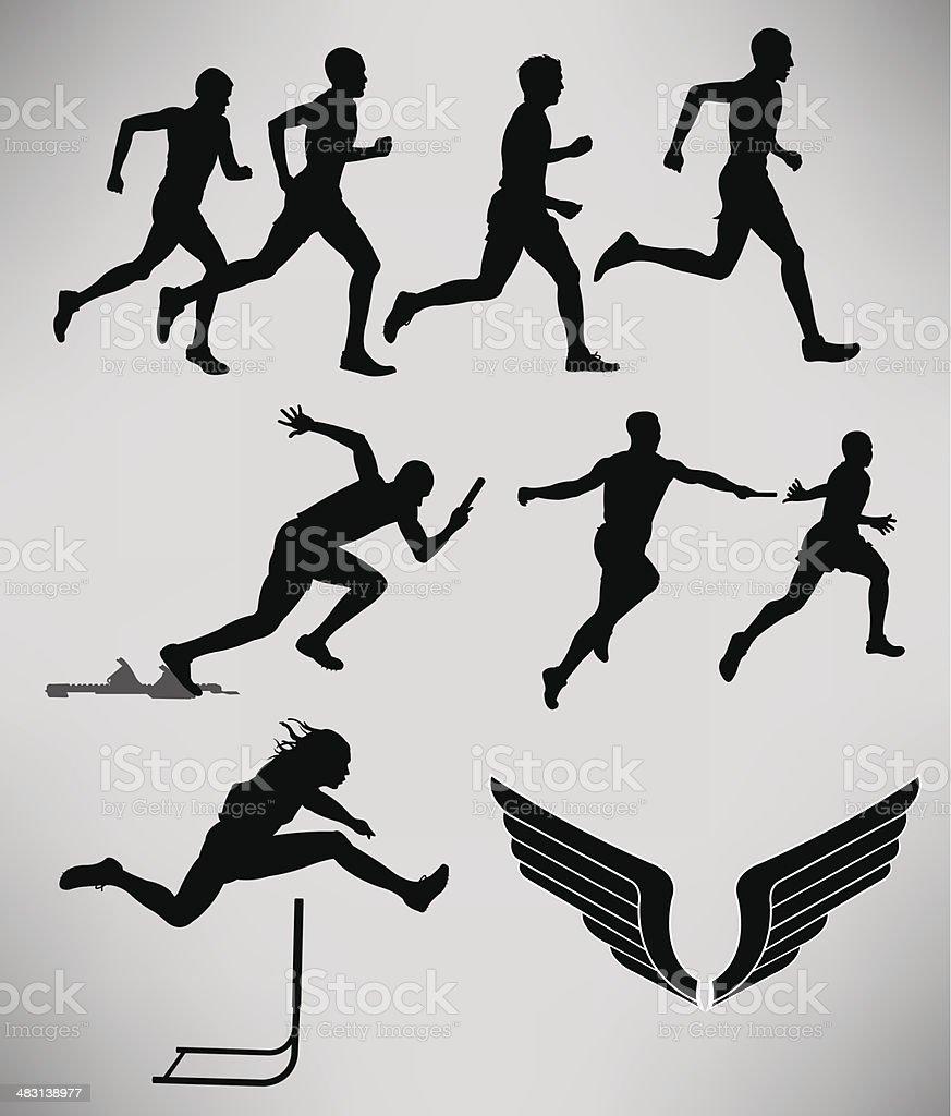 Track and Field - Men Events vector art illustration