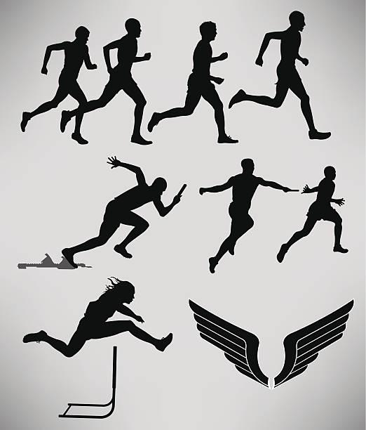 陸上-男性のイベント - 陸上競技点のイラスト素材/クリップアート素材/マンガ素材/アイコン素材