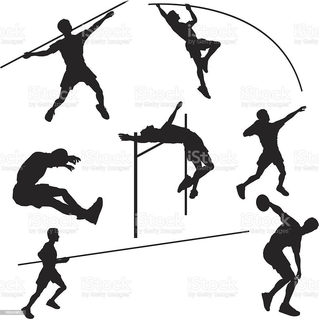 Athlétisme Silhouette Collection - Illustration vectorielle