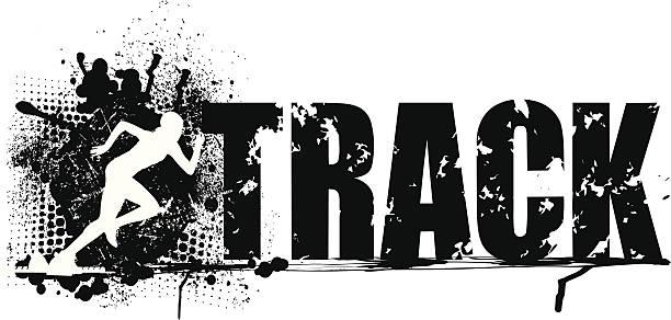 トラックアンドフィールドスプリントグランジグラフィック-女子 - 陸上競技点のイラスト素材/クリップアート素材/マンガ素材/アイコン素材