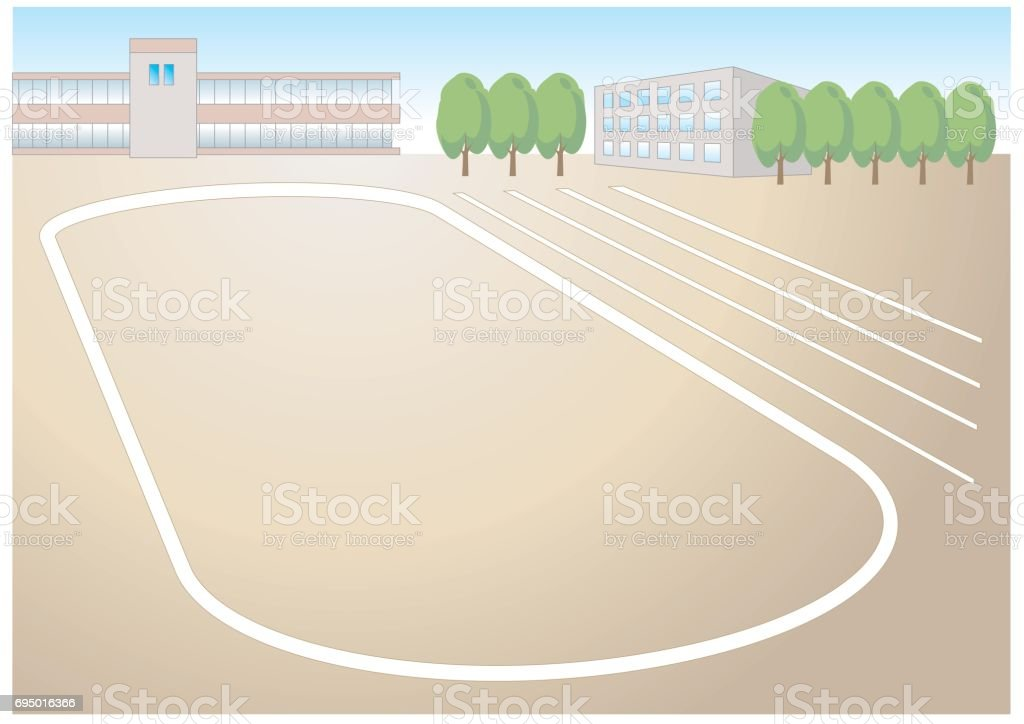 track and field vector art illustration