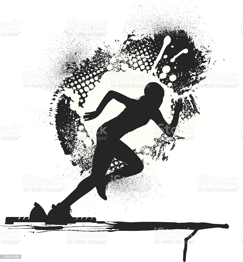 Track & Field Runner or Sprinter - Female royalty-free track field runner or sprinter female stock vector art & more images of activity