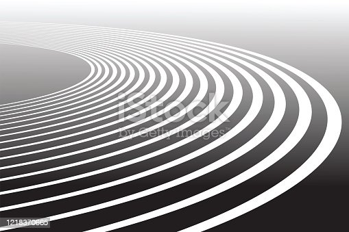istock Track lines. Abstract background. 1218370665