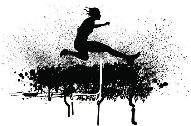 陸上選手トラックを満たし、雌 - 陸上競技点のイラスト素材/クリップアート素材/マンガ素材/アイコン素材