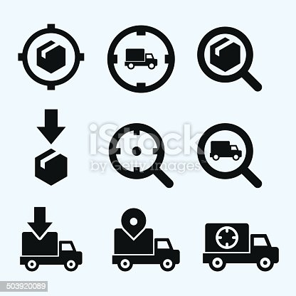 Icon set about the concept