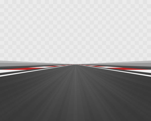 track road to infinity, road vector highway , vector illustration, transparent background. - formula 1 stock illustrations