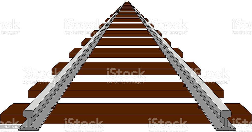 Track vector art illustration