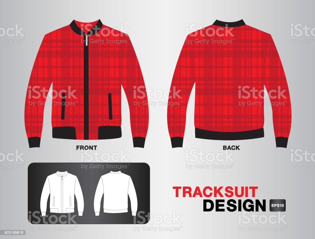 Tracksuit & Training design template for soccer jersey, football, basketball, jersey. T-shirt mock up , uniform ,clothes, fashion layout. vector illustration vector art illustration