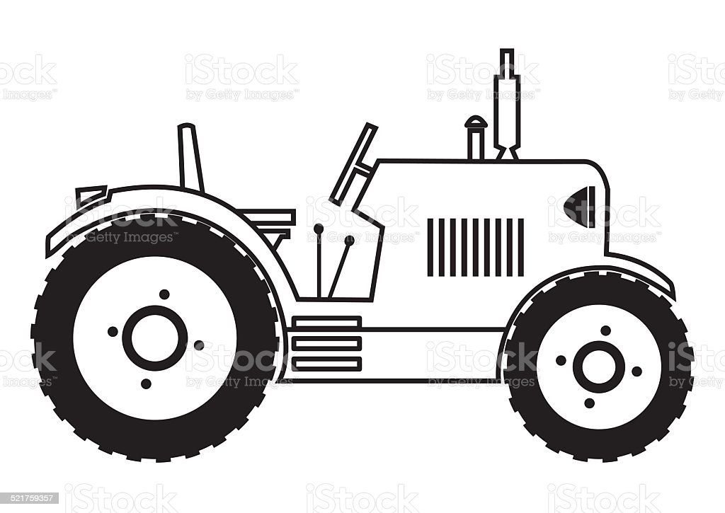 Tractor Coloring Book Stock Illustration - Download Image ...