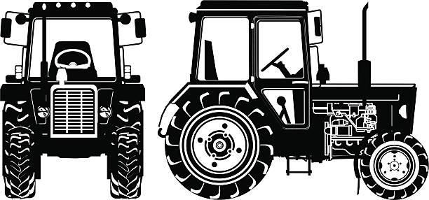 bildbanksillustrationer, clip art samt tecknat material och ikoner med tractor detailed silhouette - traktor pulling