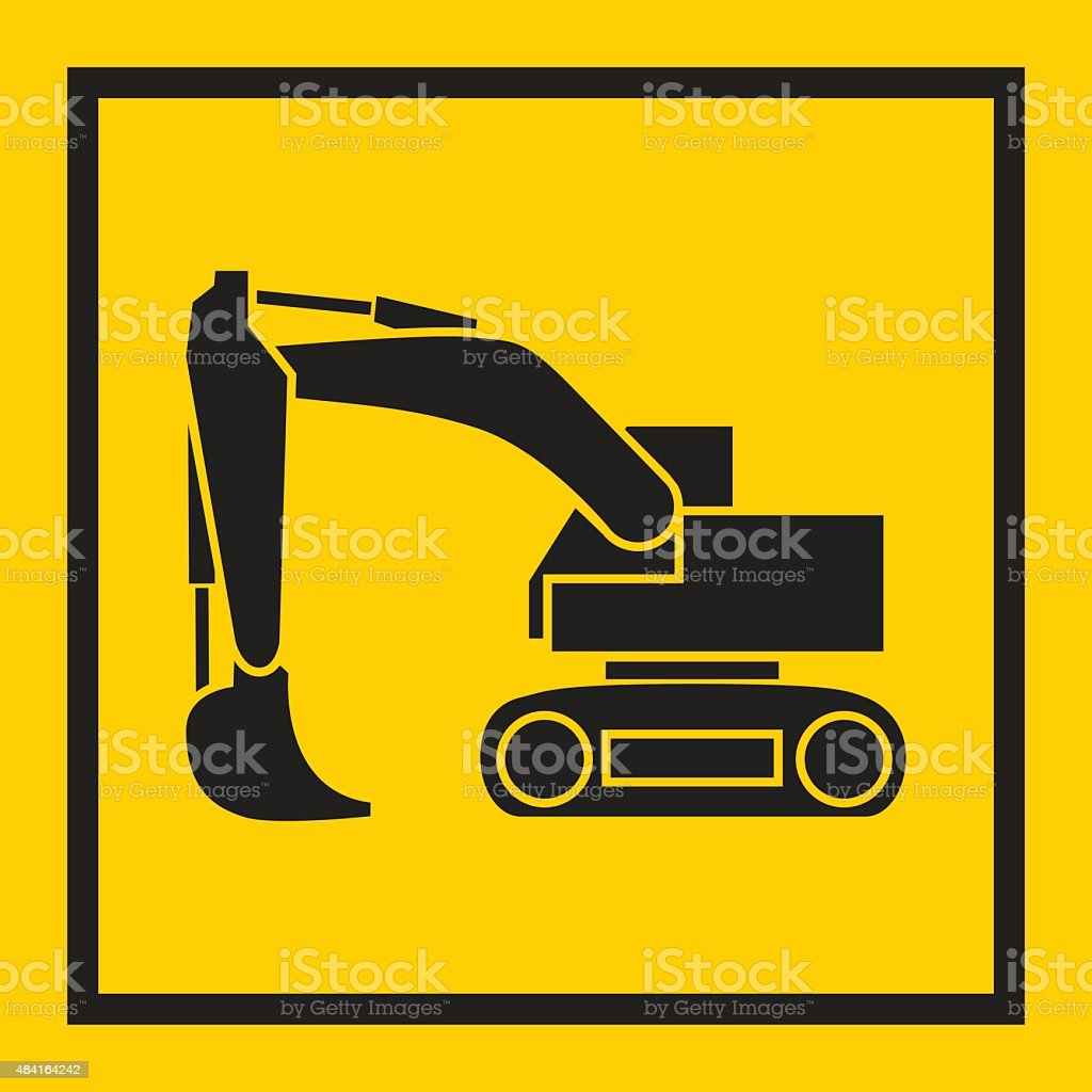 Tractor, excavator, bulldozer, crawler, Wheeled and continuous track vector art illustration