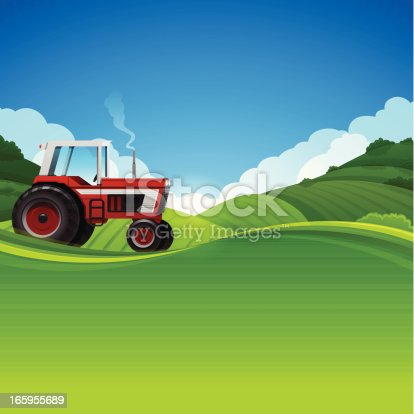 istock Tractor Farming Background 165955689