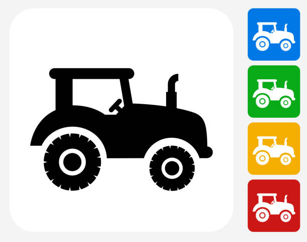 Simple Tractor Clip Art : Royalty free simple tractor silhouettes clip art vector