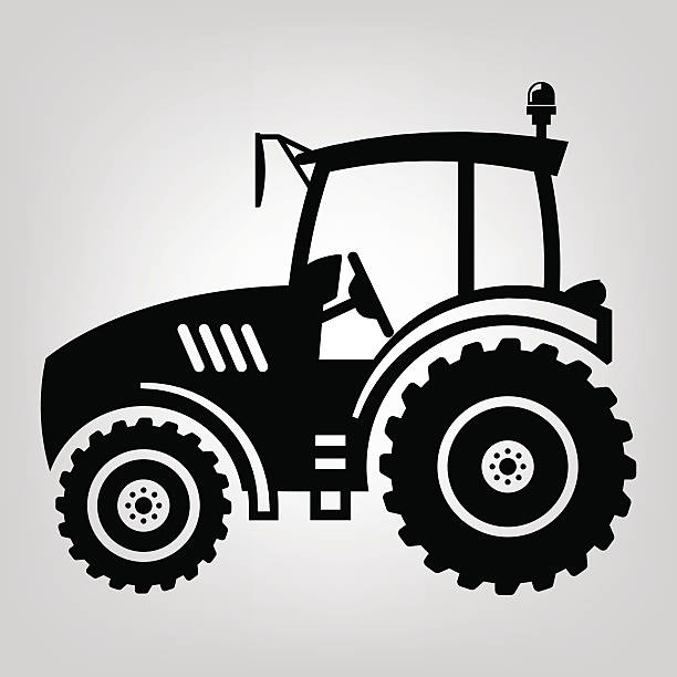 Royalty Free Toilet Clip Art Vector Images: Best Silhouette Of A Simple Tractor Illustrations, Royalty