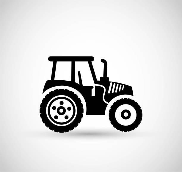 illustrazioni stock, clip art, cartoni animati e icone di tendenza di tractor icon vector - trattore