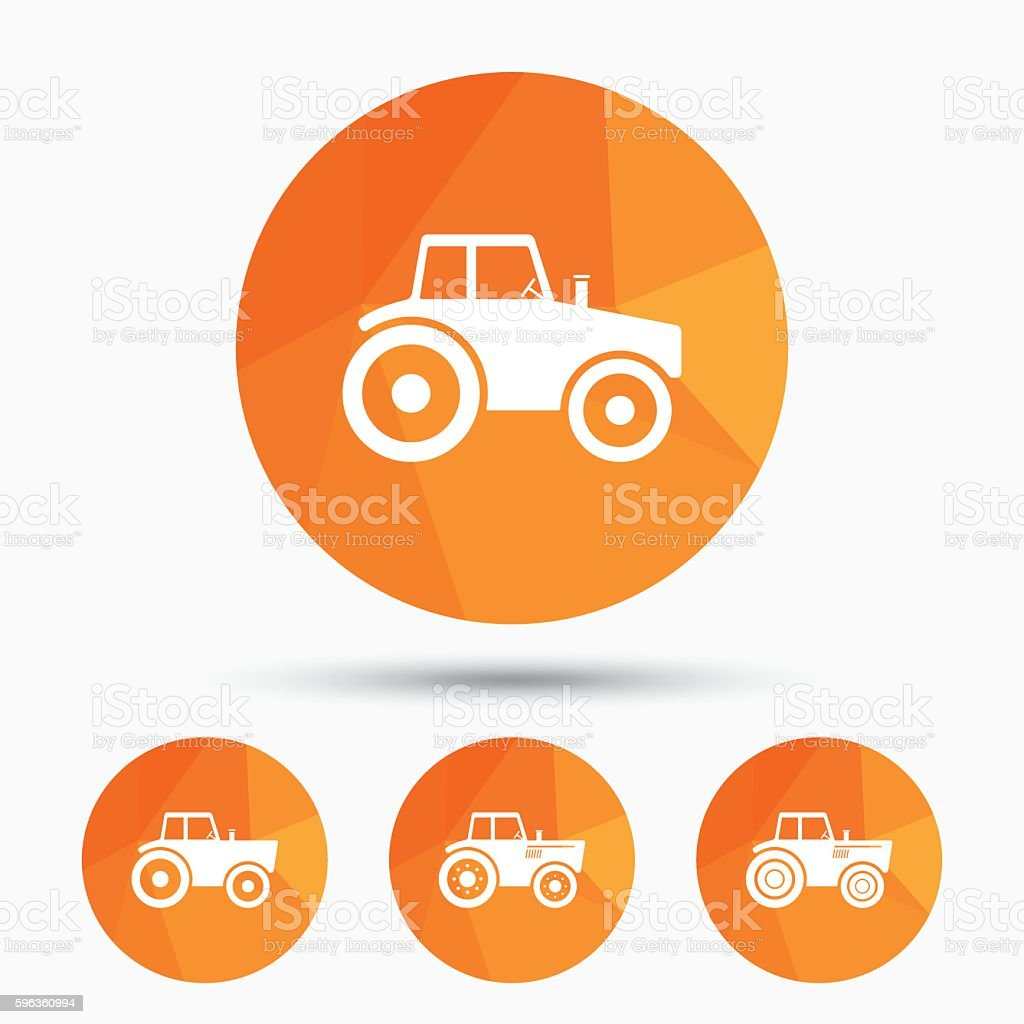 Tractor icons. Agricultural industry transport. royalty-free tractor icons agricultural industry transport stock vector art & more images of agriculture