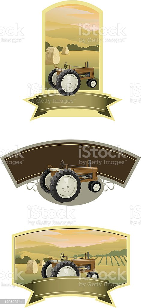 Tractor Labels royalty-free stock vector art