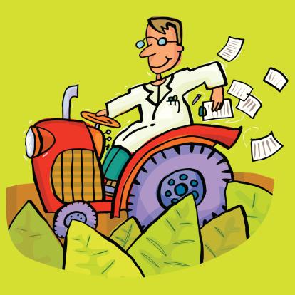 Tractor Man Stockvectorkunst en meer beelden van Afdruk