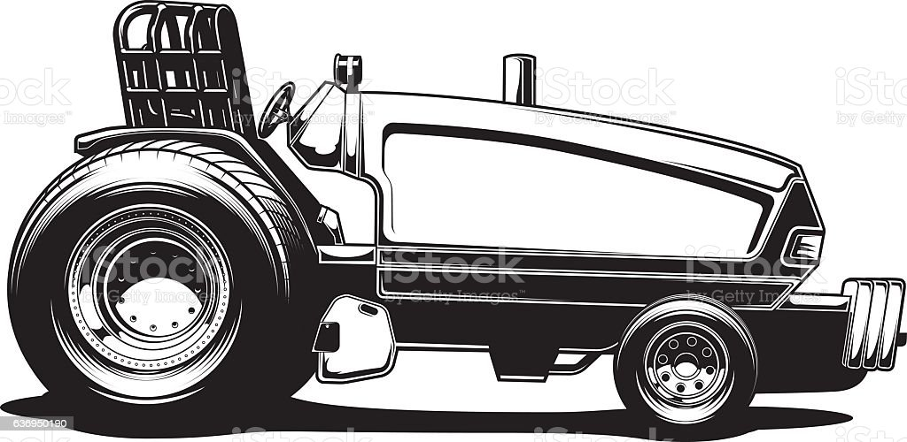 Tractor Pull Clip Art Vector : Tractor pull stock vector art more images of auto racing