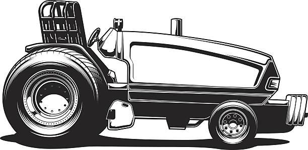 bildbanksillustrationer, clip art samt tecknat material och ikoner med tractor pull - traktor pulling