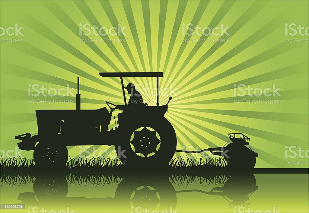 Tracteur Silhouette (vecteur - Illustration vectorielle