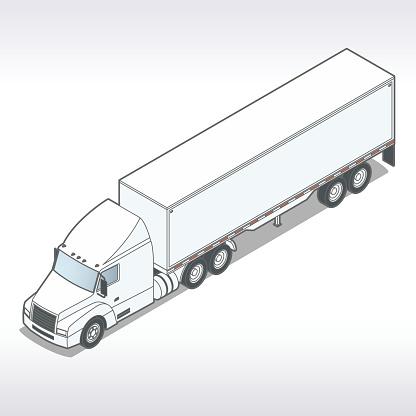 Tractor Trailer Illustration