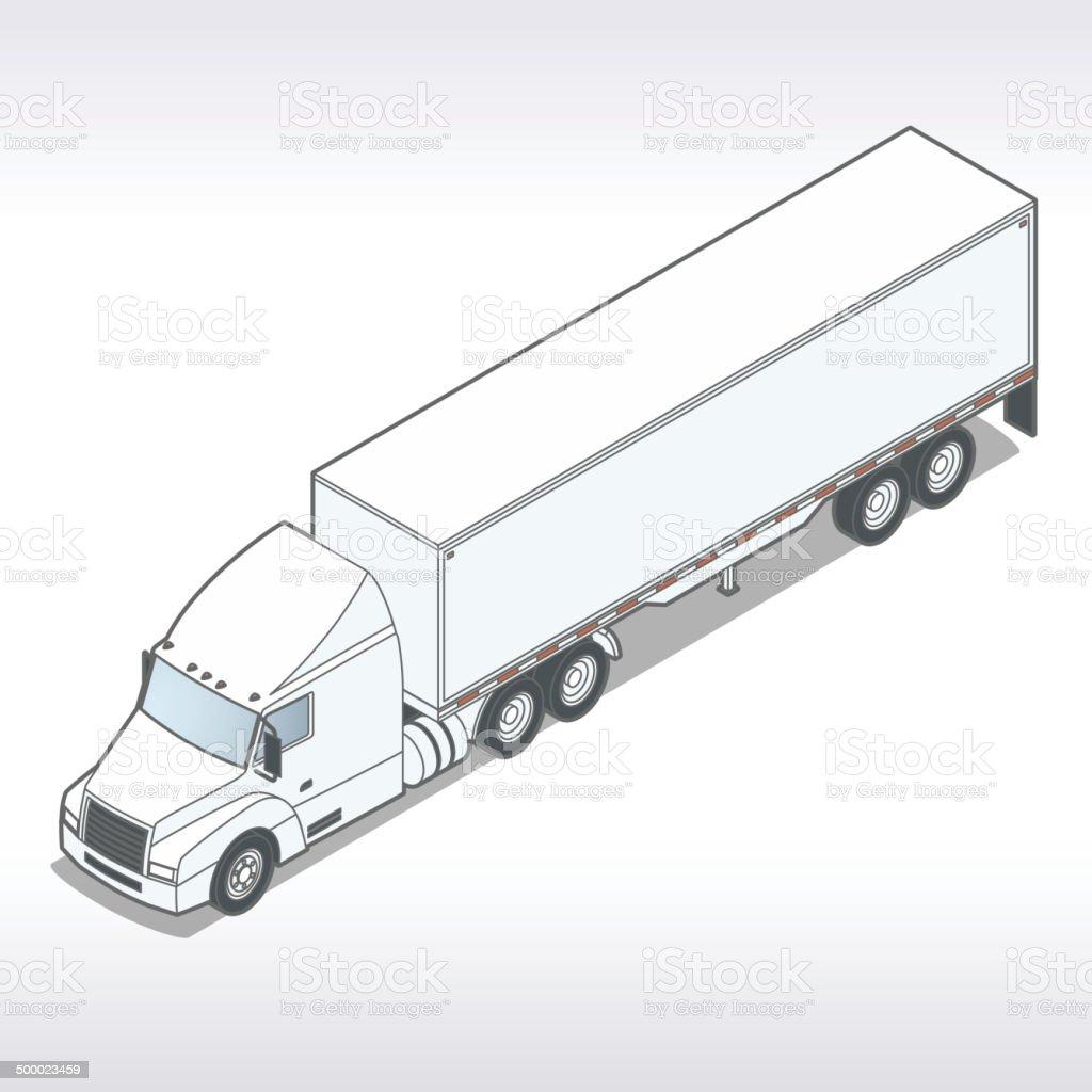 Tractor Trailer Illustration vector art illustration