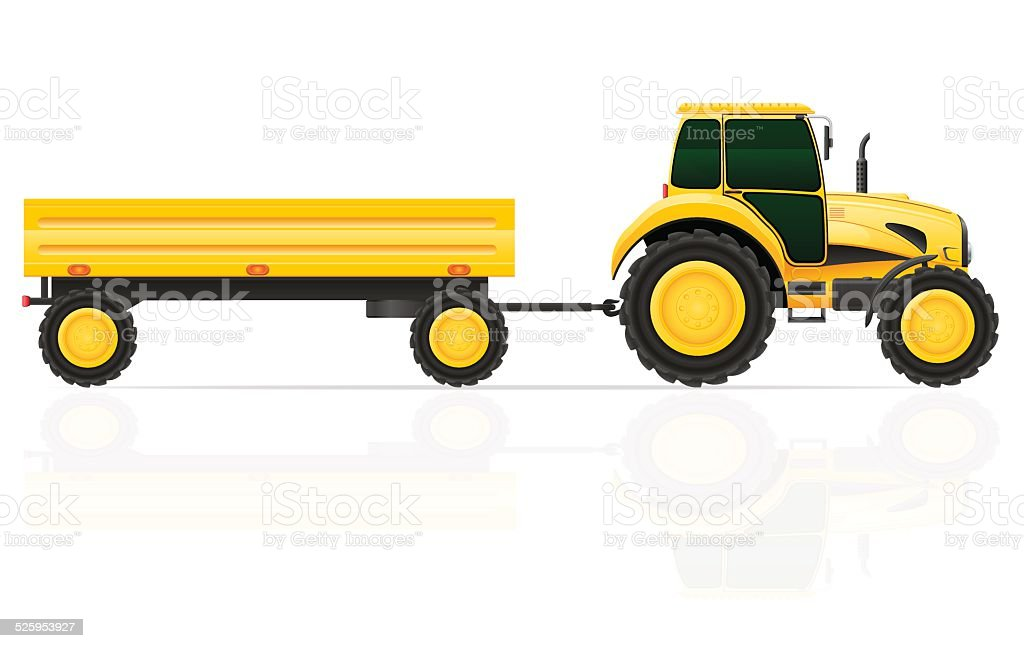 royalty free agricultural trailer isolated clip art vector images rh istockphoto com semi tractor trailer clipart tractor trailer clip art black and white