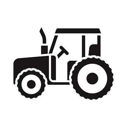Tractor Transportation Glyph Icon