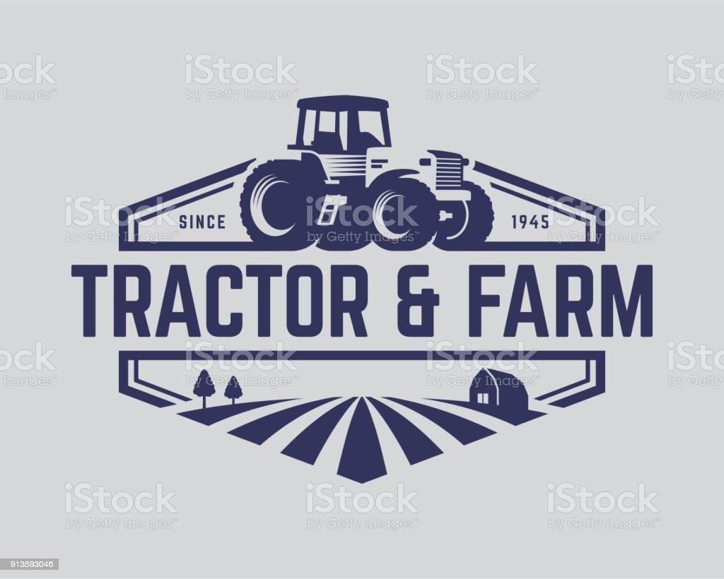 Traktor-Vector Illustration – Vektorgrafik