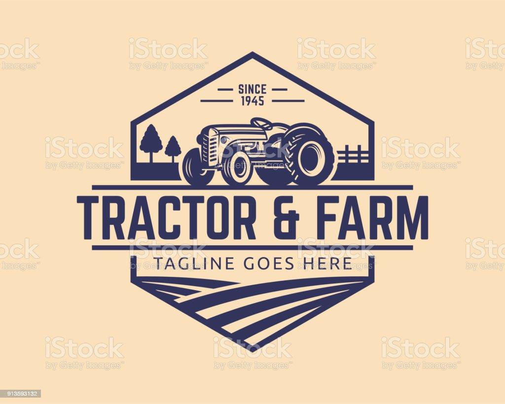 Tractor vector Illustration