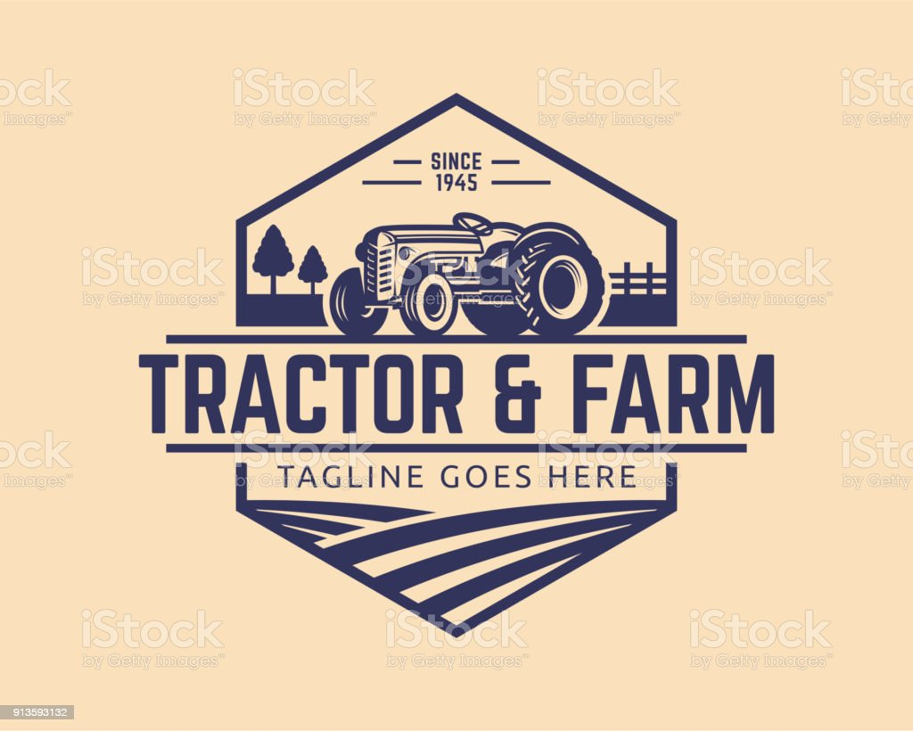 Tractor vector Illustration vector art illustration