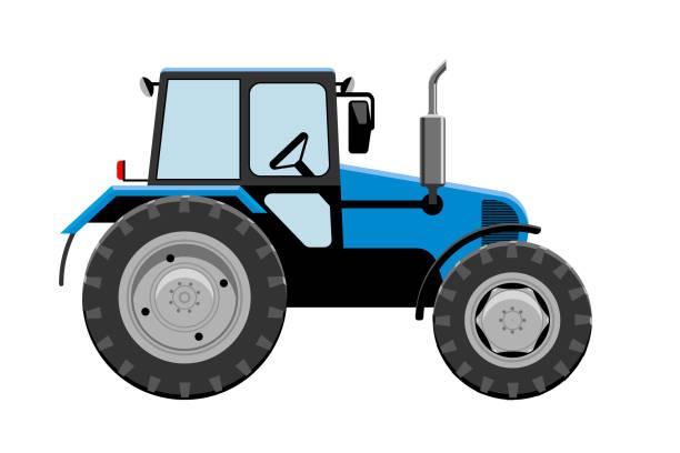 illustrazioni stock, clip art, cartoni animati e icone di tendenza di tractor vehicle vector illustration - trattore