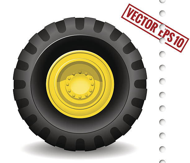 Clip Art Tractor Wheels : Royalty free new tractor tire clip art vector images