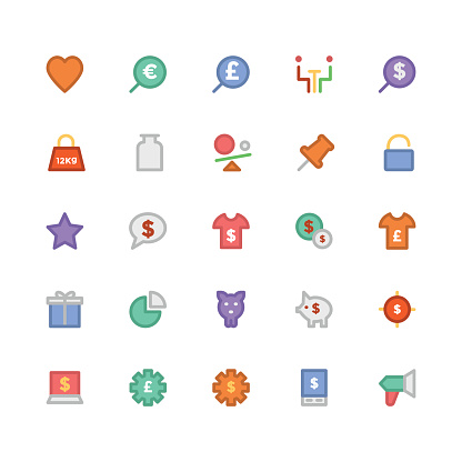 Trade Colored Vector Icons 5