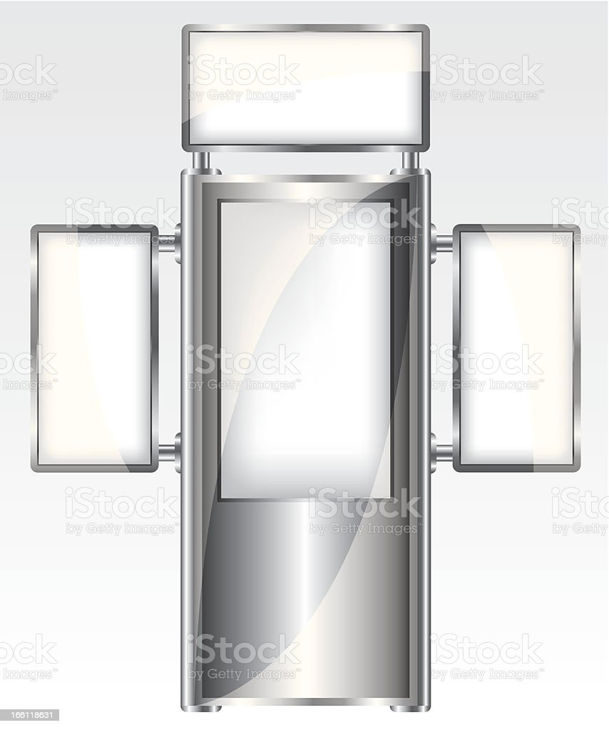 Trade exhibition metal stand royalty-free stock vector art