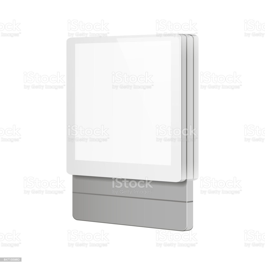 Small Exhibition Stand Vector : Trade exhibition stand display illustration isolated on white
