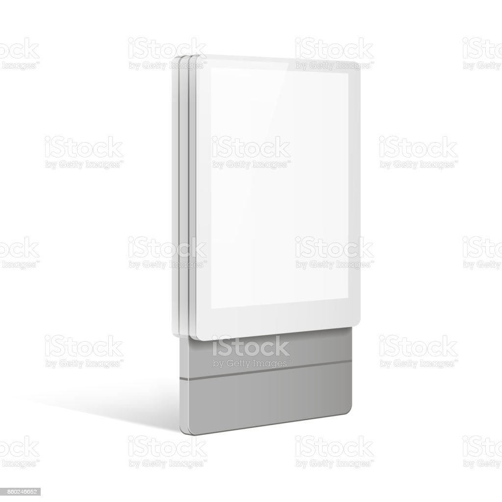 Exhibition Stand Information : Trade exhibition stand display illustration isolated on white