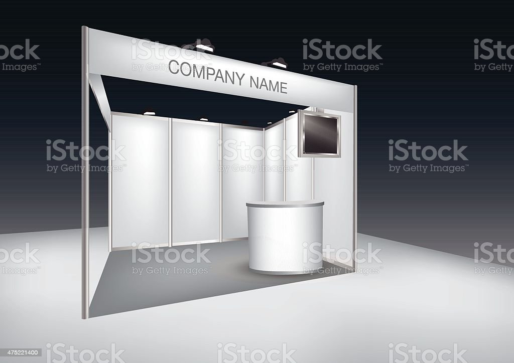 Exhibition Stand Free Vector : Trade exhibition stand stock vector art & more images of 2015 istock