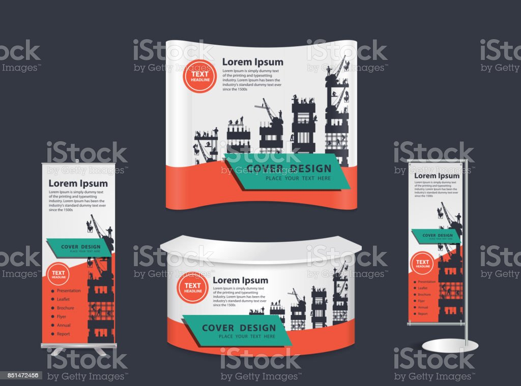 Trade Exhibition Stand Vector : White blank trade show booth round exhibition stand stock vector