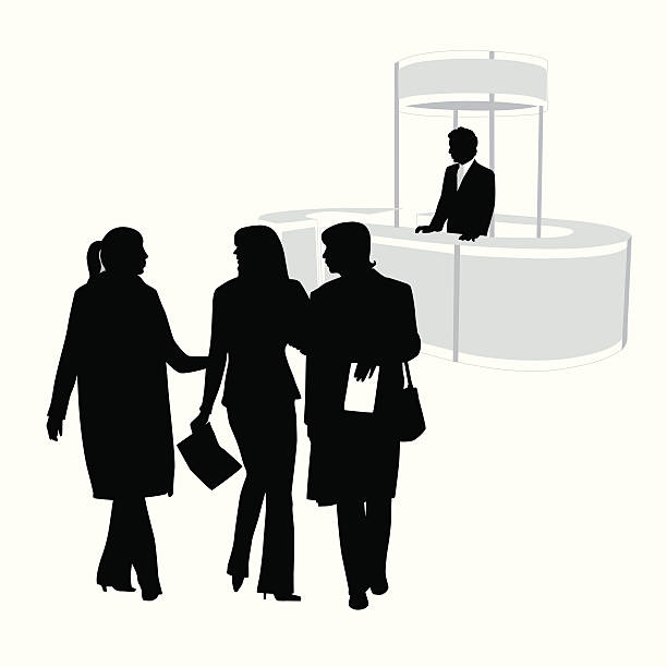 Exhibition Booth Vector Free Download : Royalty free tradeshow booth clip art vector images