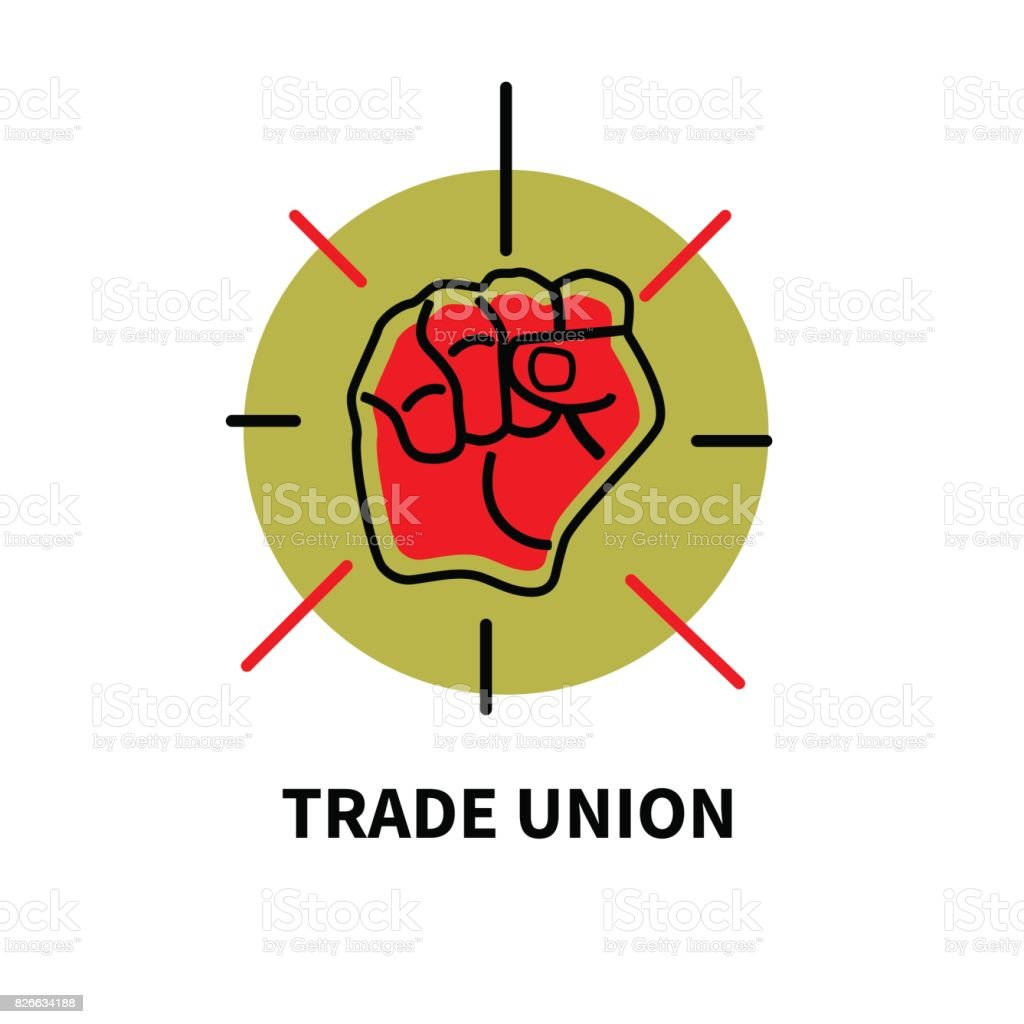 Trade union movement vector art illustration