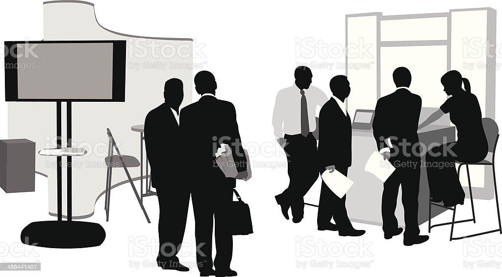 Trade vector art illustration