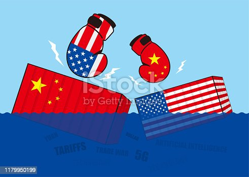 Trade war of China and United States,Boxing sinks the trade containers
